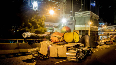 Views Of Hong Kong's Pro-Democracy Protest Site Ahead Of Expected Clearance