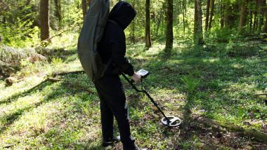 detector de metale, vânător de comori