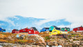 Colorful houses in Saqqaq village, Greenland