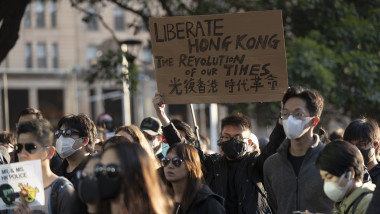 Pro-Hong Kong Demonstrators Gather in Sydney