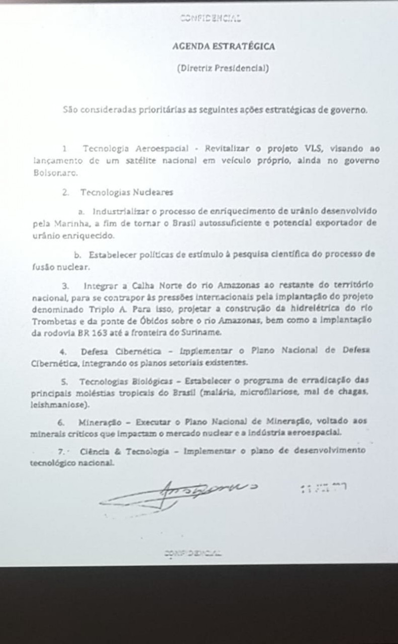 document bolsonaro amazon