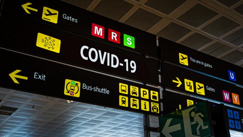panou de informatii la aeroport