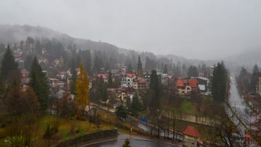 Rainy day in Sinaia, Romania