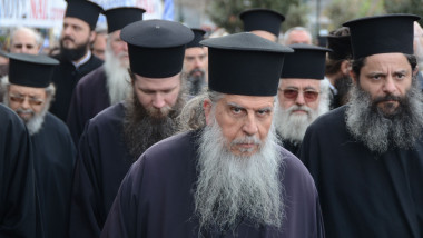 """Greece means Orthodoxy"" demonstration in Athens, Attiki - 04 Mar 2018"