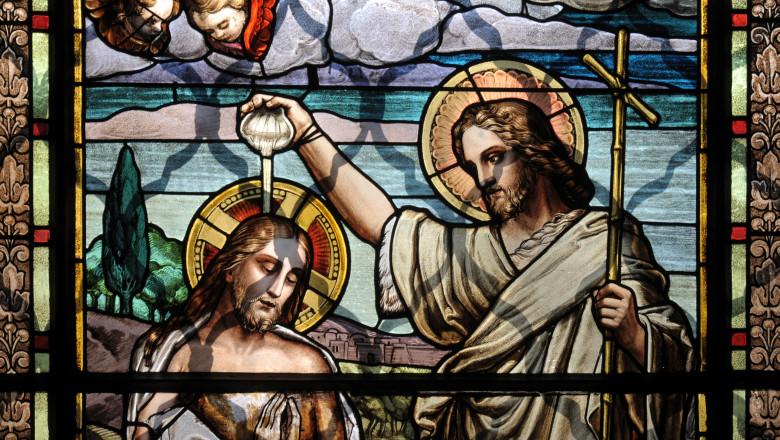 botezul domnului vitraliu