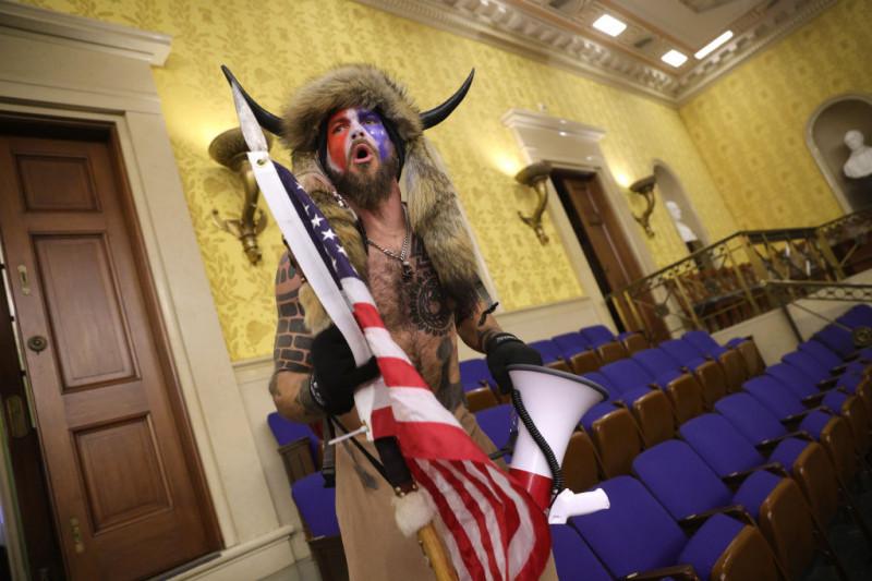 Jake Angeli în Congresul SUA