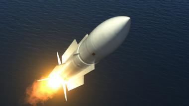 Ilustrație a unei rachete nucleare
