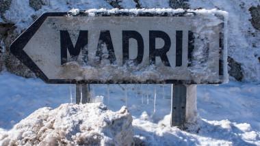 Winter in the mountain navacerrada madrid,spain,