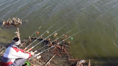 pescar cu 5 undite - captura