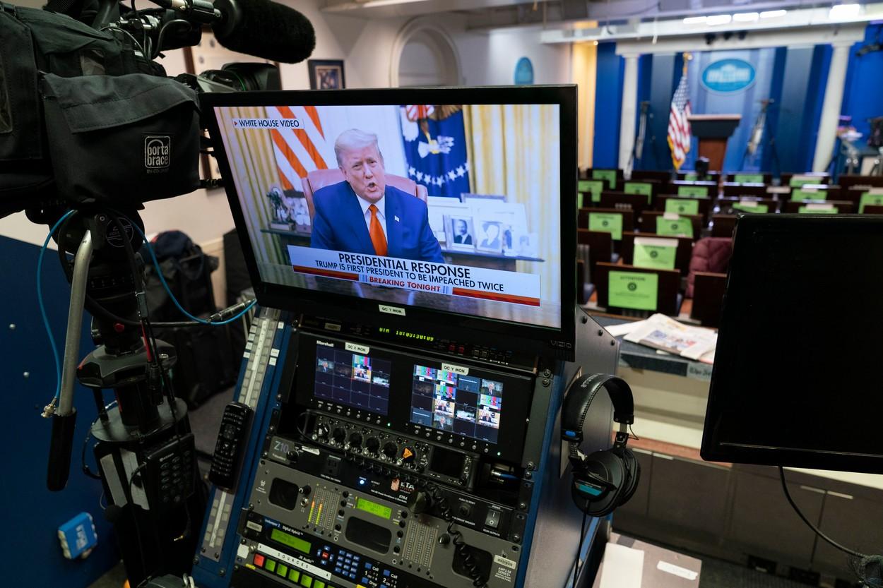 Donald Trump a dat publicității o înregistrare video, după punerea sa sub acuzare. Nicio vorbă despre impeachment