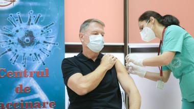 klaus iohannis vaccinat presidency