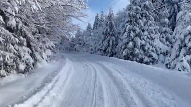 peisaj iarna cavnic - captura vladimir petrut facebook