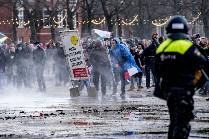 Anti government protest, Amsterdam, The Netherlands - 17 Jan 2021