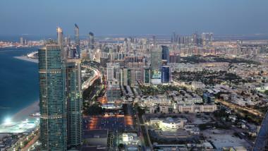 Vedere aeriană din Abu Dhabi.