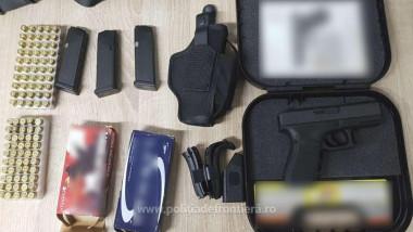 Un pistol cu muniţia aferentă, descoperit într-un container în Portul Constanţa Sud Agigea