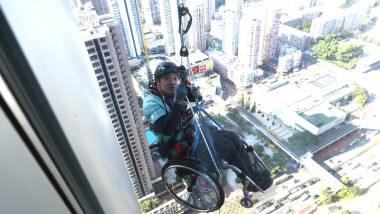 Lai Chi Wai Climbs Nina Tower To Raise Donation