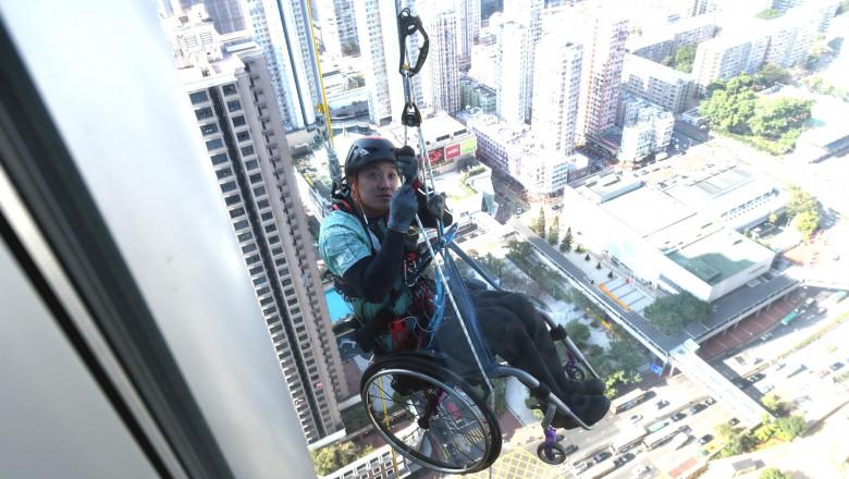 Lai Chi Wai Climbs Nina Tower To Raise Donation