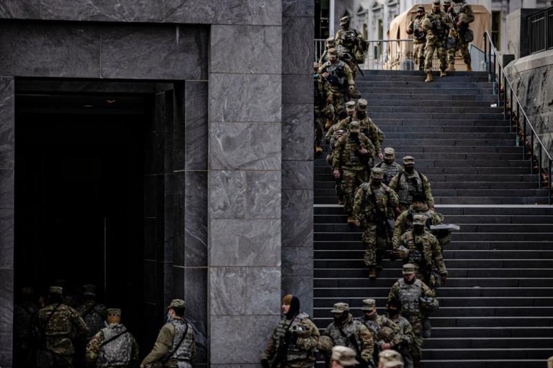 Militari din Garda Națională desfășurați la Capitoliul SUA din Washington DC