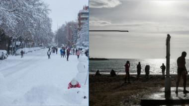 Iarna in Madrid si vreme de plaja in Grecia
