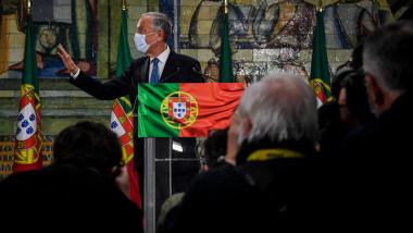 Portughezii l-au reales duminică pe Marcelo Rebelo de Sousa în funcția de președinte