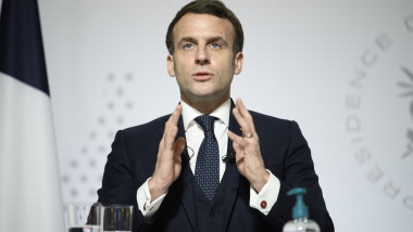 President Macron At All-Virtual World Economic - Paris