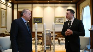 Erdogan și Elon Musk