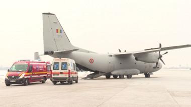 pacient ars transfer avion militar