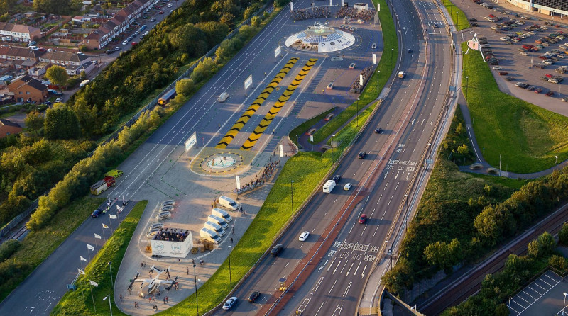 The world's first airport for flying cars in the UK, UK - 27 January 2021