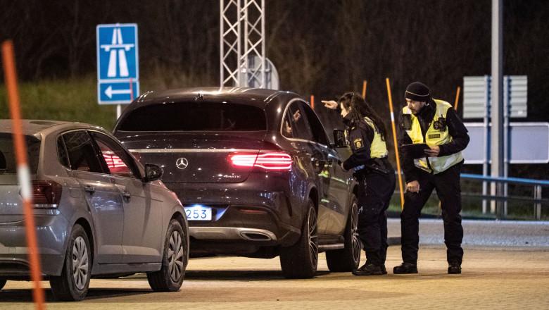 Border between Sweden and Denmark closed, Oresund Bridge, Malmo, Sweden - 22 Dec 2020