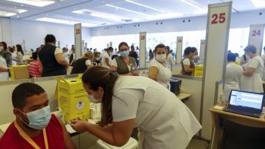Centru de vaccinare in Sao Paulo Brazilia gettyimages