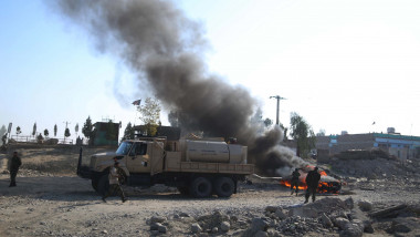 Bomb blast hits Afghan National Army vehicle injuring 3 soldiers