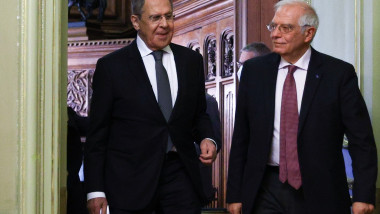 Josep Borrell și Serghei Lavrov