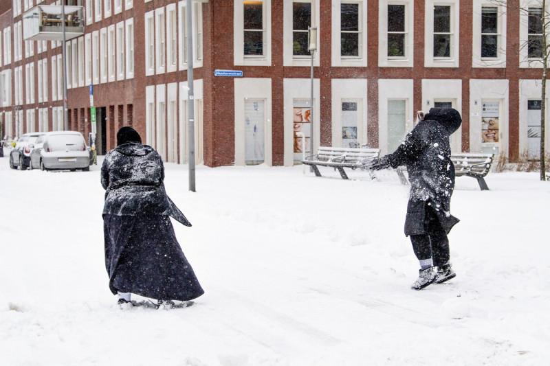 Zăpadă la Rotterdam