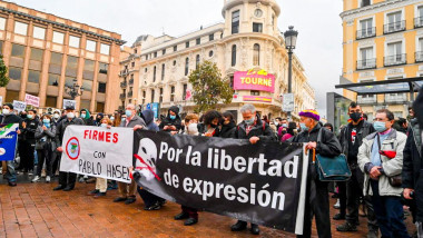 'Tarajal case' anniversary protest, Madrid, Spain - 07 Feb 2021