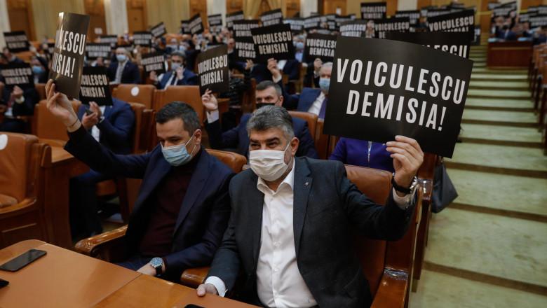 inquam protest parlament ciolacu