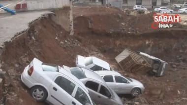 masini cazute parcare surpata - captura