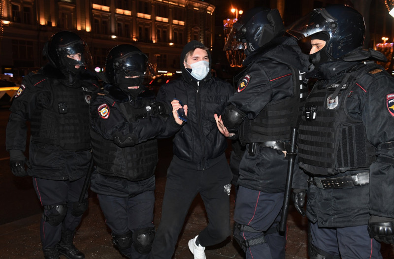 Arestat la Moscova protest Navalnîi