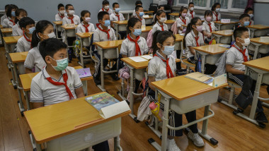 China's Students Back At School Amidst Global Pandemic