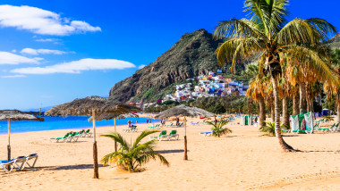 Golden beautiful beach Las Teresitas - Teneride island