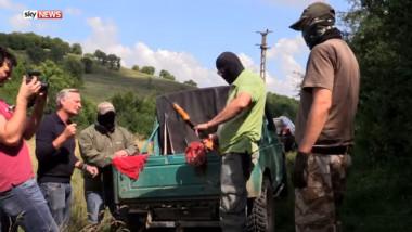 reportaj fals sky news despre traficanţi români de arme