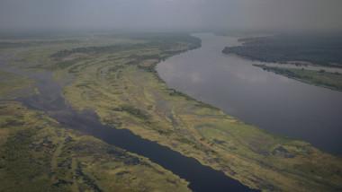 fluviul congo fotografiat din aer