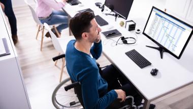 persoane dizabilitati scaun rotile