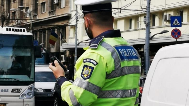 politist in trafic