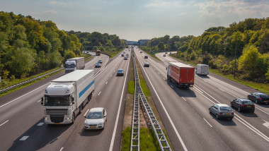 Evening Traffic on the A12 Motorway
