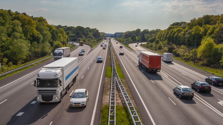 trafic normal pe autostrada A12 din Olanda.