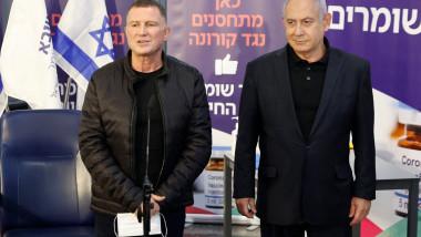 Yuli Edelstein si Benjamin Netanyahu profimedia-0577332209