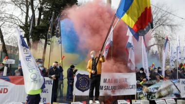 Protest al polițiștilor, la Palatul Cotroceni. Foto: INQUAM Photos/George Călin
