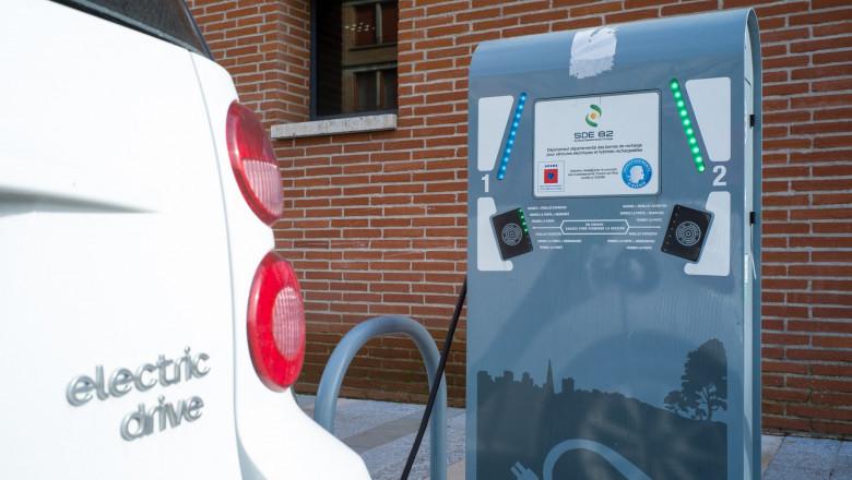 mașină electrică încărcare