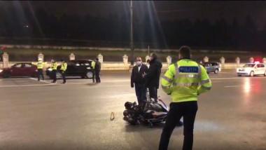 accident motociclist palatul parlamentului