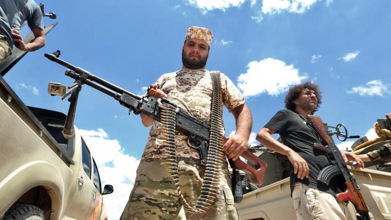 Luptători ai Guvernului de Acord Naţional al Libiei, recunoscut de ONU. Iulie 2020.